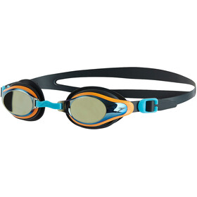 speedo Mariner Supreme Mirror Goggles Kids, oxid grey/jaffa/titanium